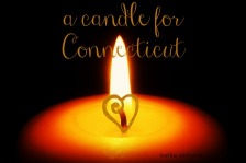 Candle for Connecticut. In Memory.