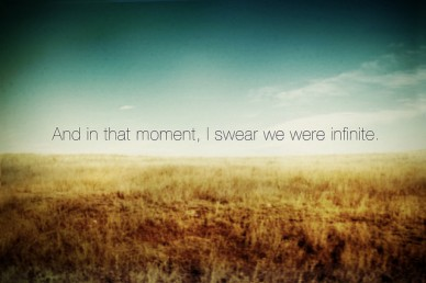 in that moment i swear we were infinite The perks of being a wallflower
