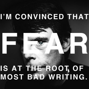 stephen king writing quote fear